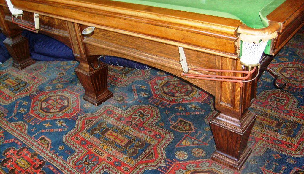 E J Riley Solid Oak Full Size Snooker Table Sold
